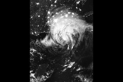 NASA-NOAA's Suomi NPP satellite captured this night-time infrared image of Hurricane Imra on Sept. 11, 2017 at 3:21 a.m. EDT (0721 UTC) located over central Florida. (NOAA/NASA Goddard Rapid Response Team)