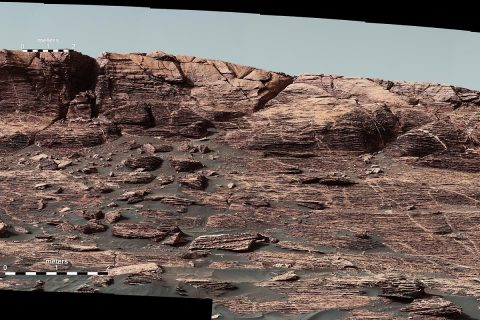 "Researchers used the Mastcam on NASA's Curiosity Mars rover to gain this detailed view of layers in ""Vera Rubin Ridge"" from just below the ridge. (NASA/JPL-Caltech/MSSS)"