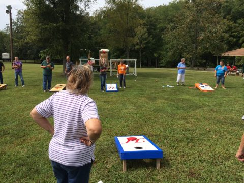 Piney Camper's Fair proved to be the place to be in September--both campers and staff participated in the day's activities like playing corn hole and a little dancing to the band. Camper's Fair is an opportunity to see for yourself the incredible campground we offer in Stewart County, TN.