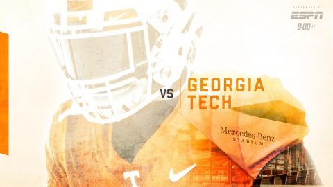 No. 25/24 Tennessee takes on Georgia Tech on Sept. 4 on ESPN in the new Mercedes-Benz Stadium in Atlanta. (UT Athletics)