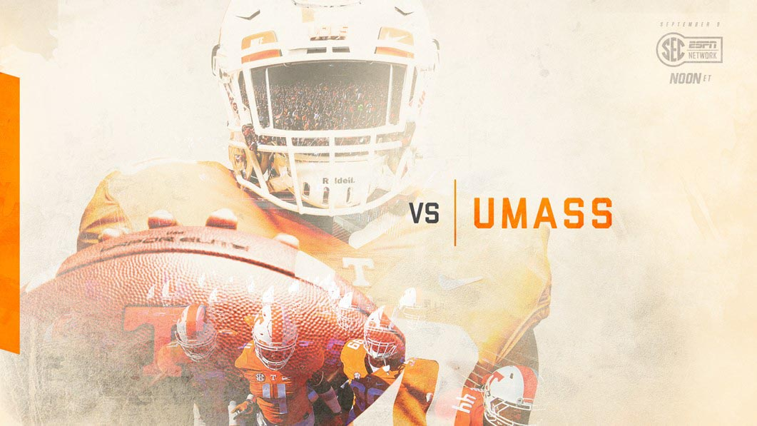 Tennessee Volunteers play UMass Saturday at Neyland Stadium. (UT Athletics)