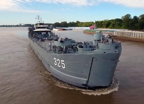 USS LST-325 to dock in Clarksville Wednesday. Tours will begin Thursday.