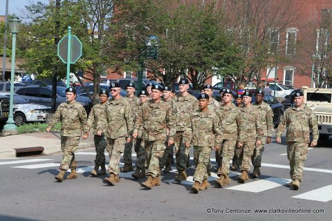 Welcome Home Parade in Downtown Clarksville.