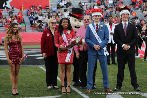 Amber James was crowned APSU Homecoming Queen and Brandon Herbert was crowned King at the APSU Football game against Southeast Missouri, Saturday.