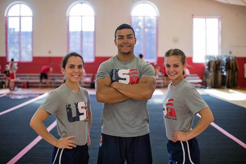 Austin Peay student-athletes Raquel Black, Jonah Hensen and Erica Lester. (APSU Sports Information)