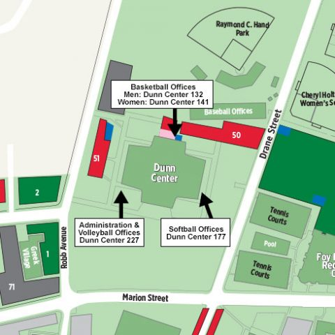 APSU Dunn Center Parking Areas Map