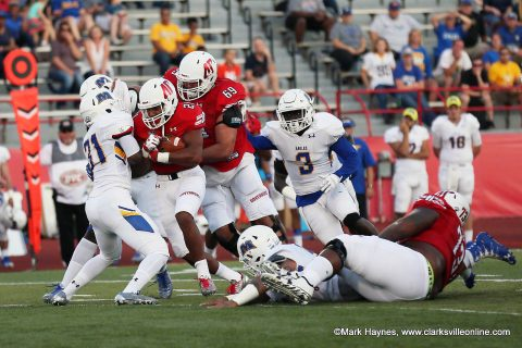 Austin Peay Governors Football hosts Jacksonville State Gamecocks Saturday afternoon.