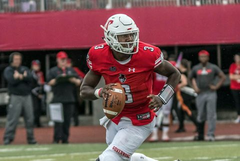 Austin Peay Governors Football loses battle of the unbeatens to Jacksonville State Gamecocks Saturday night at Fortera Stadium. (APSU Sports Information)
