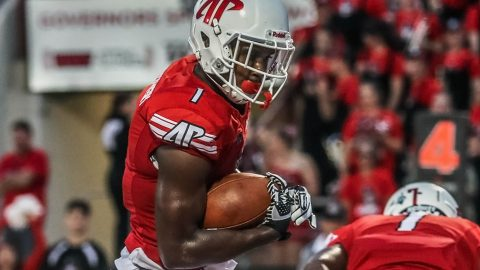 Austin Peay Governors Football travels to Nashville to battle Tennessee State Tigers Saturday night. (Robert Smith, APSU Athletics)