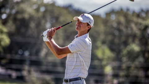 Austin Peay Men's Golf freshman Chase Korte opens Samford Intercollegiate two over par. (APSU Sports Information)