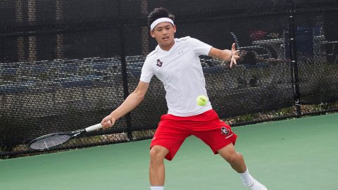 APSU Men's Tennis' Christian Edison advances to next round at ITA All-American Championships. (APSU Sports Information)