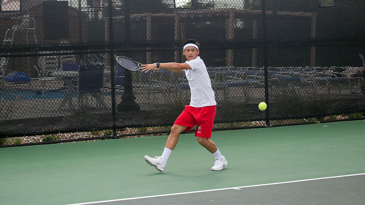 Austin Peay Men's Tennis' Christian Edison wins third match but falls in the fourth at ITA Men's All-American Championship, Sunday. (APSU Sports Information)