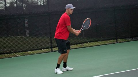 Austin Peay Men's Tennis junior Almantas Ozelis has 3-0 start at Mercer Gridiron Classic, Friday. (APSU Sports Information)