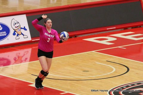 Austin Peay Volleyball freshman Brooke Moore has 12 kills in three set victory over Jacksonville State. (APSU Sports Information)