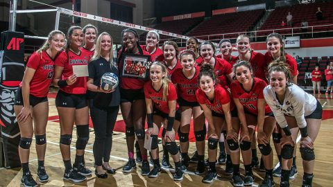 Austin Peay Women's Volleyball the fourth NCAA Division I team to 20 wins this season after win against Belmont Bruins. (APSU Sports Information)