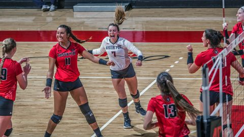Austin Peay Women's Volleyball travels to Middle Tennessee, then returns home to host UT Martin and Southeast Missouri this week. (APSU Sports Information)