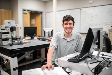 Austin Peay State University physics major Joshua Allen.