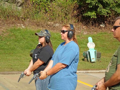 Citizens Police Academy Class firearms instruction.