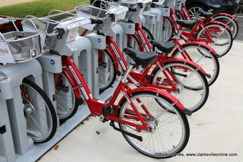 Free 60-minute Clarksville BCycle bike rides offered January 13th-20th