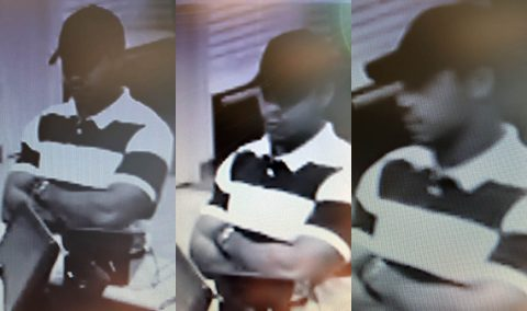 Clarksville Police are looking for the person in these photos in connection to a forged debit card.