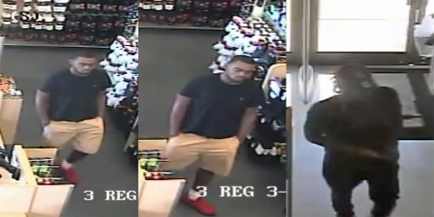The person in these photos is wanted by Clarksville Police as a suspect in the fraudulent use of a credit card.