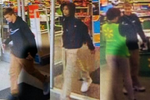 Clarksville Police are looking for the man in these photos for Aggravated Assault at the 408 Tiny Town Road Wal-Mart Neighborhood Market.