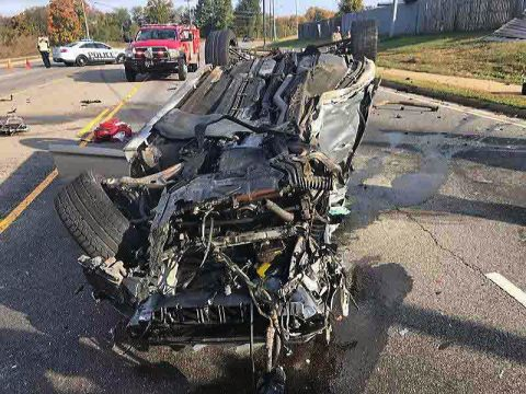 Vehicle accident occurred on Peachers Mill Road early Friday morning.