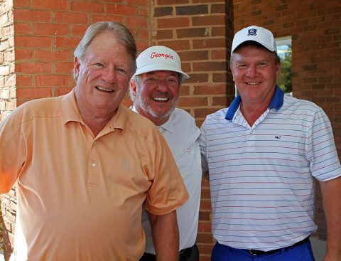 Cecil Morgan, Wayne Pace and John Hadley after round 1 of the 17th annual Jumper Cup.