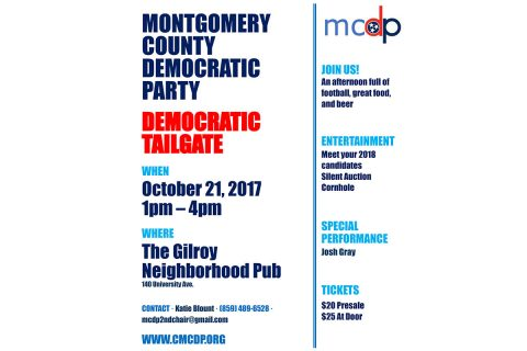 Montgomery County Democratic Party will host APSU Homecoming Game Tailgate event on October 21st.
