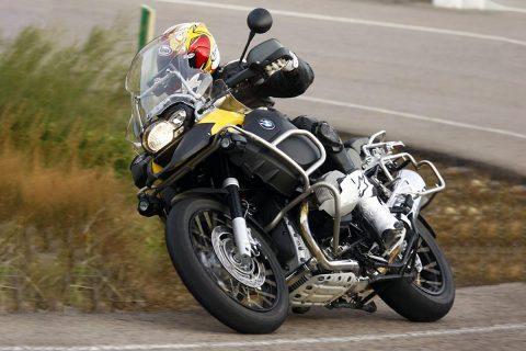 Motorcycle taking a corner