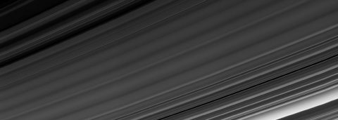 Cassini obtained this panoramic view of Saturn's rings on Sept. 9, 2017, just minutes after it passed through the ring plane. (NASA/JPL-Caltech/Space Science Institute)