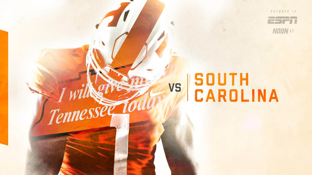Tennessee Vols renew one of the most thrilling SEC East rivalries over the last five yars when they host the South Carolina Gamecocks on Saturday at 11:00am CT on ESPN. (UT Athletics Department)