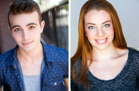 "Dean Cestari and Charly Dannis star as Brad and Janet in Richard O'Brien's ""The Rocky Horror Show"" at the Roxy Regional Theatre, October 20th - October 28th."