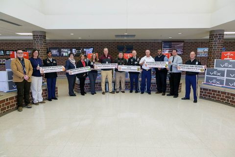 Four Clarksville Montgomery County School System high school robotics programs to receive VEX EDR Robotics kits from the U.S. Army.