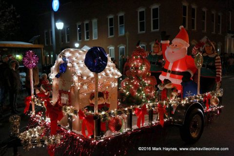 58th Annual Clarksville Christmas Parade is set for Saturday, December 2nd, at 5:00pm.