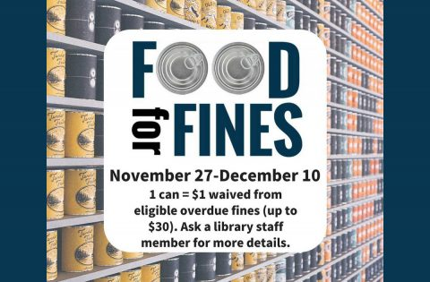 "Clarksville-Montgomery County Public Library's ""Food for Fines"" run through December 10th."