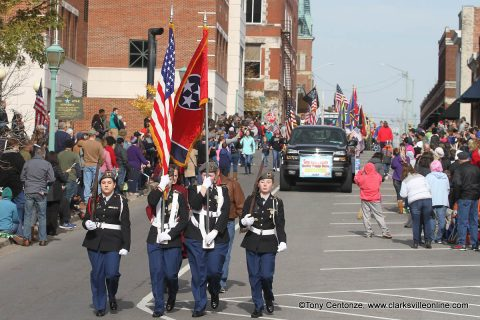 Clarksville's annual Veterans Day Parade .