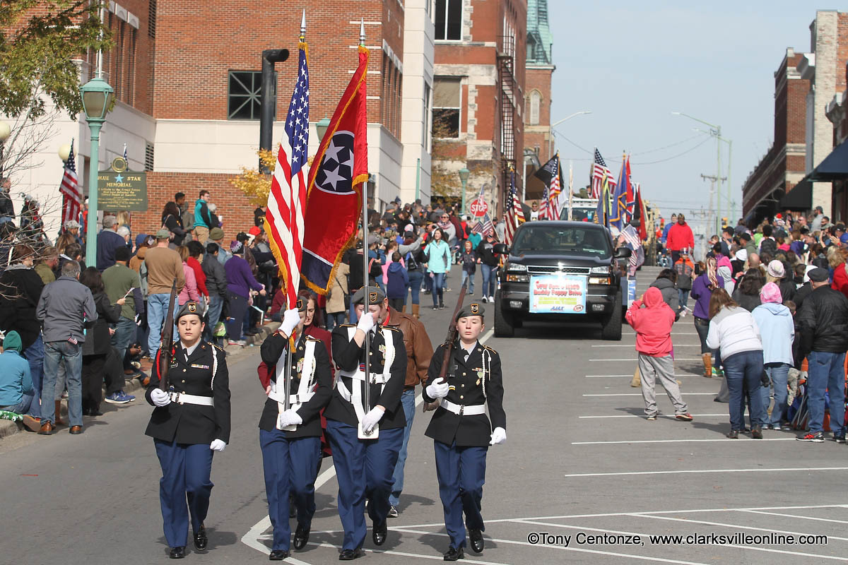 A huge turnout for Clarksville's annual Veterans Day Parade Saturday.