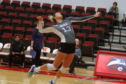 An upset in the first round of the OVC 2017 Volleyball Championship tournament as #7 seed Eastern Illinois beats #2 seed SIUE 3 sets to 1.