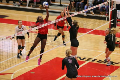 Austin Peay Volleyball advances to the OVC Volleyball Championship game with three set win over Eastern Kentucky Friday night at the APSU Dunn Center.