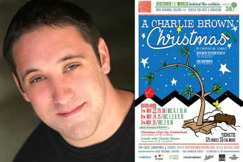 "Bryan Plummer stars as Charlie Brown in ""A Charlie Brown Christmas"" at the Roxy Regional Theatre, November 23rd through December 16th."
