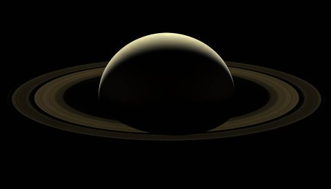 After more than 13 years at Saturn, and with its fate sealed, NASA's Cassini spacecraft bid farewell to the Saturnian system by firing the shutters of its wide-angle camera and capturing this last, full mosaic of Saturn and its rings two days before the spacecraft's dramatic plunge into the planet's atmosphere. (NASA/JPL-Caltech/Space Science Institute)