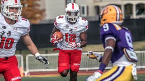 Austin Peay Governors Football beats Tennessee Tech Golden Eagles 35-28 Saturday in Cookeville, TN. (APSU Sports Information)