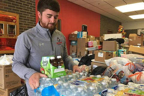 APSU takes in over a quarter-ton of goods and supplies for Hurricane Relief.