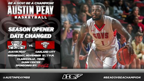 Austin Peay Men's Basketball home opener at the Dunn Center moved to November 15th. (APSU Sports Information)