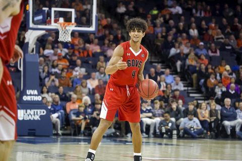 Austin Peay Men's Basketball freshman guard Dayton Gumm led all Govs with 13 points against Virginia Monday night. (APSU Sports Information)