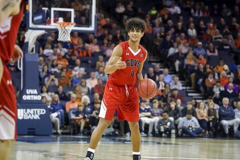 Austin Peay Men's Basketball freshman guard Dayton Gumm led all Govs with 13 points against Virginia Monday night. (APSU Sports Information)