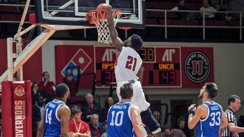 Austin Peay Basketball's Terry Taylor scored 21 points Sunday night against UNC Asheville. (APSU Sports Information)