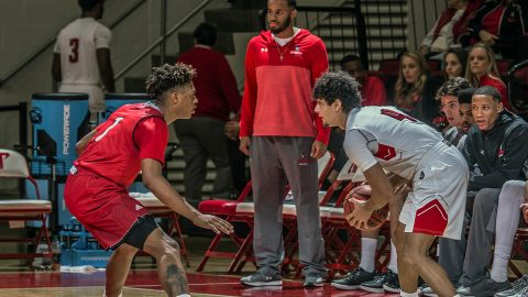Austin Peay Men's Basketball beat Miami University 86-61 Sunday at the Dunn Center. (APSU Sports Information)