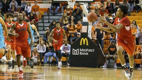 Austin Peay Men's Basketball falls 79-63 to Oklahoma State Wednesday night at Gallagher-Iba Arena. (APSU Sports Information)